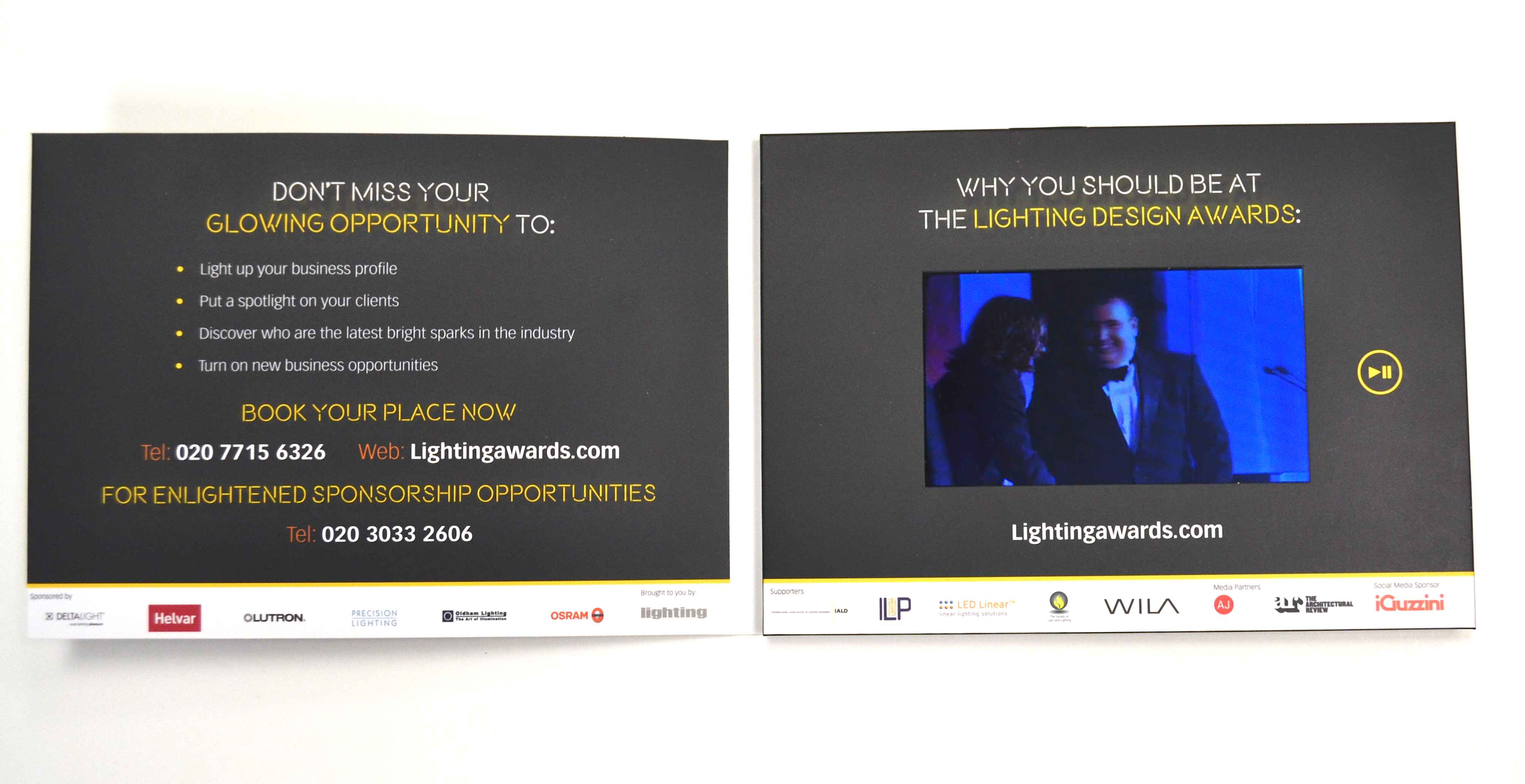 Video brochure for lighting awards